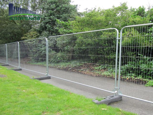 Temporary fencing used at our local gala day